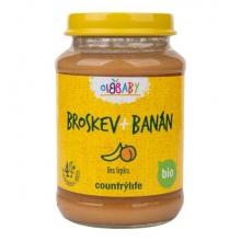Příkrm - Broskev,banán Bio 190g COUNTRY LIFE