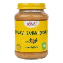 Příkrm - Broskev,banán,cereálie Bio 190g COUNTRY LIFE