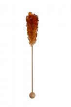 Kandysový cukr na dřívku - hnědý