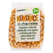 Kukuřice na výrobu popcornu Bio 200g COUNTRY LIFE