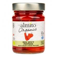 Papriky červené pikant,plněné sýrem Bio 230g ALMITO