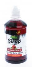 Sirup s příchutí  Brusinky 0,5l nízkokalorický - Extra hustý