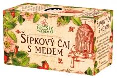 Ovocný čaj -Šípkový čaj s medem 20 n. s. GREŠÍK