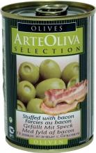 Olivy zelené plněné slaninou 300g