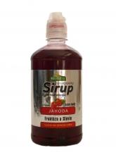 Sirup jahoda 0,5l nízkokalorický - Extra hustý