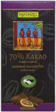 BIO hořká čokoláda 70% Rapunzel 80g
