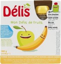 Pyré ovocné Jablko banán 4x90g DELIS