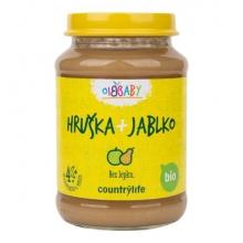 Příkrm - Hruška,jablko Bio 190g COUNTRY LIFE
