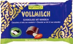 BIO mléčná čokoláda s mandlemi RAPUNZEL100g
