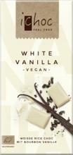 BIO vegan rýžová čoko bílá s vanilkou iChoc 80g