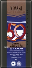 BIO VIVANI mléená eokoláda 50 % slazená kokosovým cukrem EdG 80 g
