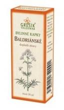 Baldrianské bylinné kapky 50ml GREŠÍK
