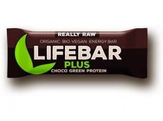 Lifebar Plus čokoláda a konopný protein BIO 47g