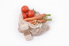 Síťový sáček z biobavlny na ovoce a zeleninu bez obalu 38*30cm