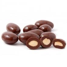 Mandle v hořké čokoládě 50g bez obalu