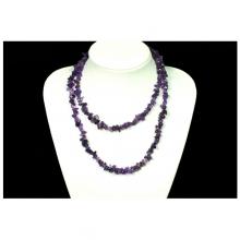 Ametyst extra náhrdelník sekaný 45cm