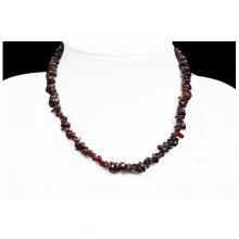 Granát náhrdelník sekaný 45 cm