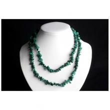 Malachit náhrdelník sekaný 90cm