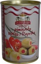 Olivy zelené plněné červenou papriku 280g obsah 120g