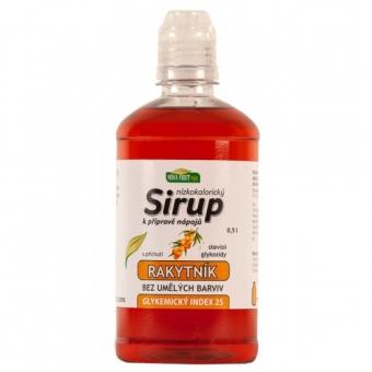 Sirup s příchutí  Rakytníku 0,5l nízkokalorický