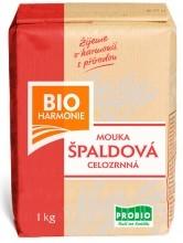 Špaldová mouka celozrnná (jemně mletá) 1kg BIOHARMONIE