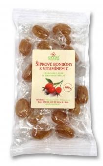Šípkové bylinné bonbony s vitamínem C 100 g GREŠÍK