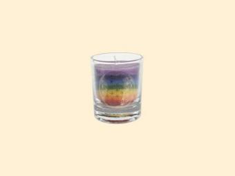 Mini čakrová svíčka duhová