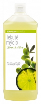 Tekuté mýdlo Citron–Oliva (náplň) SODASAN 1l