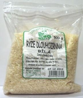 Rýže dlouhozrnná bílá Zdraví z přírody 500G