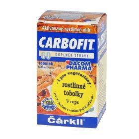 CARBOFIT aktivní rostlinné uhlí tobolky 15 g DACOM