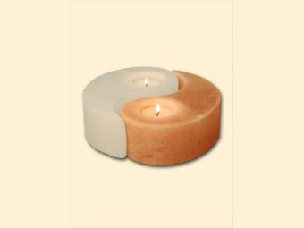 1400g - Solný krystal na svíčku ve tvaru yin-yang