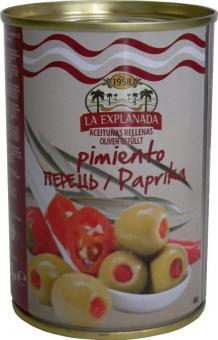 Olivy zelené plněné červenou papriku 280g/12/168