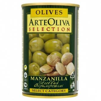 zelené olivy plněné mandlovou pastou 300g